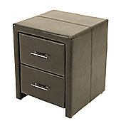 Elements Ottowa 2 Drawer Bedside Table - Brown