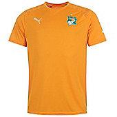 2014-15 Ivory Coast Home World Cup Football Shirt - Orange