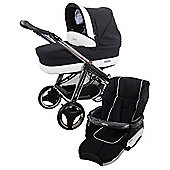 Bebecar Ip-Op Evolution Magic Chrome Combi Pram (Black Magic)