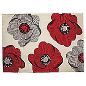 Tesco Sophia Rug Red 120X170Cm