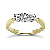 Jewelco London 18 Carat Yellow Gold 50pts Diamond Ring