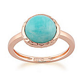 Gemondo Amazonite 'Irida' Pastel Ring in 9ct Rose Gold Plated Sterling Silver
