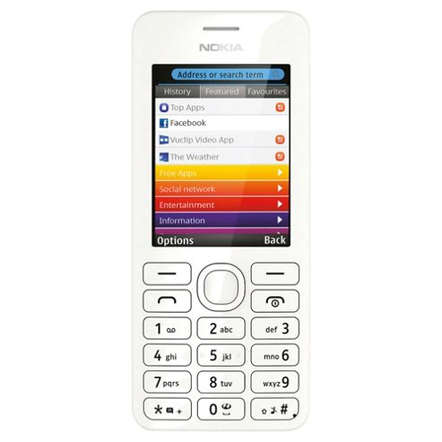 Tesco Mobile Nokia 206 White