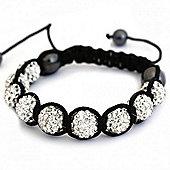 Clear Crystal Unisex Fashion Bracelet SHAMBRAC-35