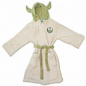 (Medium) Yoda Children's Dressing Gowns - Star Wars Bathrobe