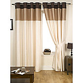 KLiving Harmony Natural 65x72 Lined Eyelet Curtains