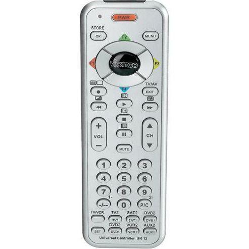 Vivanco UR12S Ultra-Slim 12 in 1 Universal Remote Control - Silver