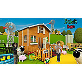 Mad Dash Dutch Barn Wooden Playhouse with Internal Bunk, 6ft x 7ft