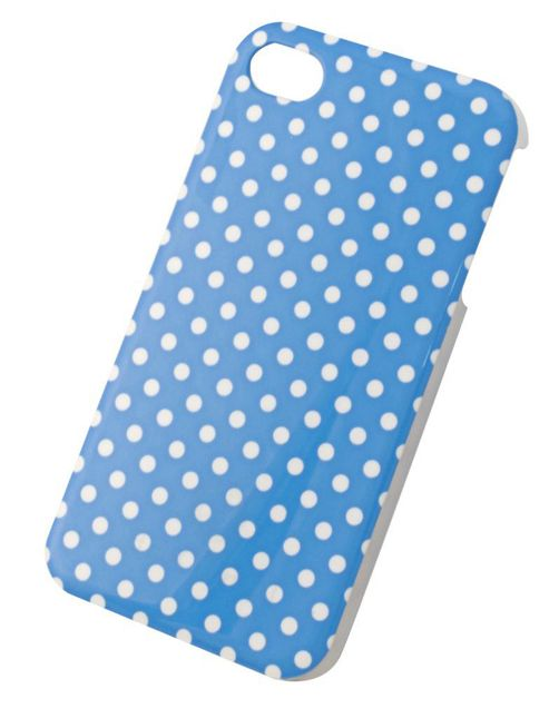 Tortoise™ Hard Case iPhone 4/4S Blue Polka Dot