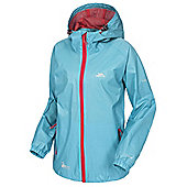 Trespass Ladies Qikpac Waterproof Packaway Jacket - Aqua