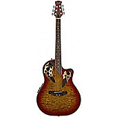 Stagg A2006 Shallow Cutaway Electro Acoustic - Cherry