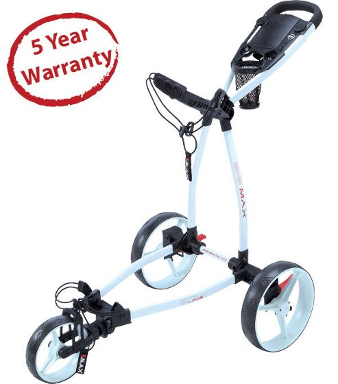 Big Max Blade 3 Wheeler Golf Trolley in White