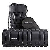 Bodhivana Black 2-in-1 Foam Exercise Roller - Trigger Point, Massage, Myofascial Release