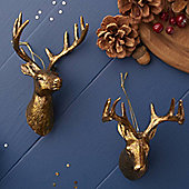 Gold Reindeer Head Christmas Tree Decoration