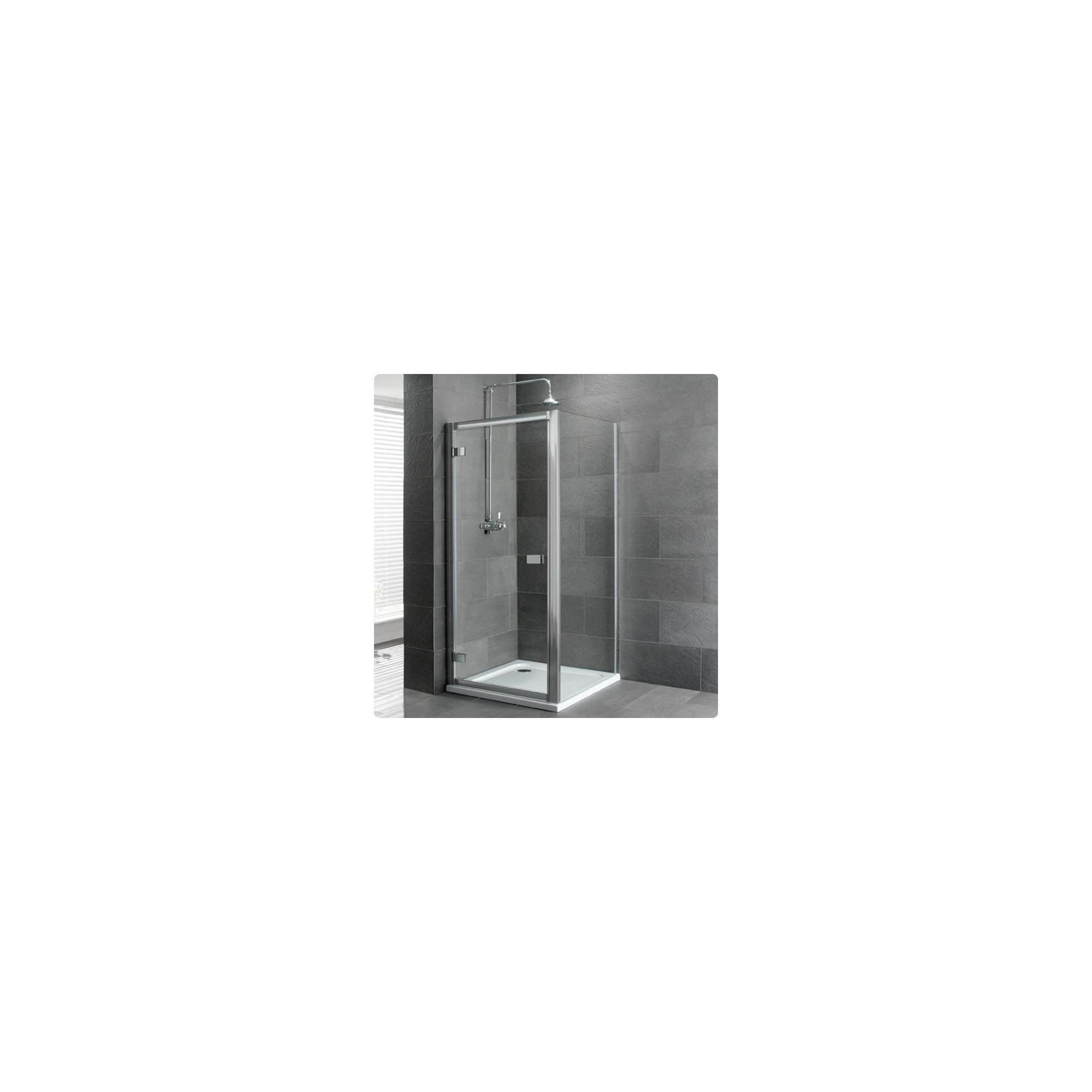 Duchy Select Silver Hinged Door Shower Enclosure, 900mm x 900mm, Standard Tray, 6mm Glass at Tescos Direct