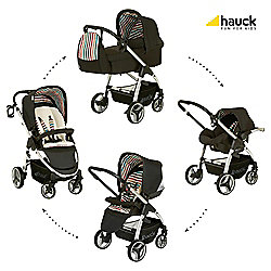 Hauck Lacrosse All-In-One Pushchair, Stone