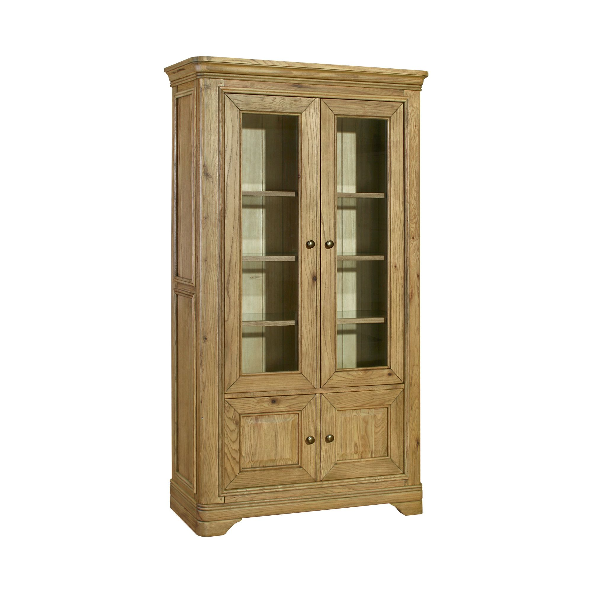 Kelburn Furniture Loire Display Cabinet in Light Oak Stain and Satin Lacquer at Tesco Direct
