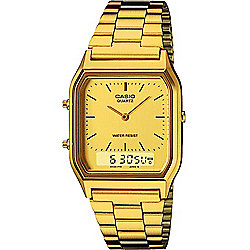 Casio Classic Unisex Gold Ion-plated Chronograph Watch AQ-230GA-9DMQYES