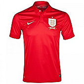 2013-14 England Away Nike Football Shirt - Red