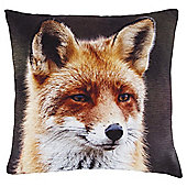 Tesco Photographic Fox Cushion, Multicoloured