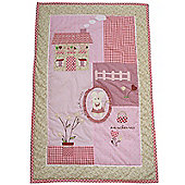 Applique Little Mouse Cot Wrap Quilt by Powell Craft