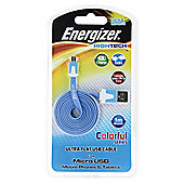 Energizer Flat 1m Micro USB Cable , Blue