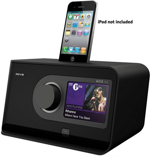 REVO AXIS XS BLUETOOTH/WIFI/DAB/DAB+/FM INTERNET ALARM RADIO WITH TOUCHSCREEN & iPOD DOCK