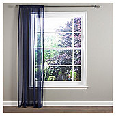 "Crystal Voile Slot Top Curtains W137xL122cm (54x48""), Navy"