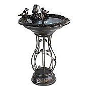 Bird Bath Fountain on Metal Stand with LED's