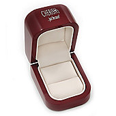 Wooden Style Dark Burgundy Ring Box