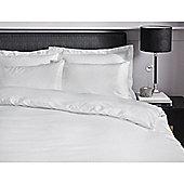 Catherine Lansfield Home Platinum   Quilt Set Sheet Satin Stripe 300 Thread Count Premium - White