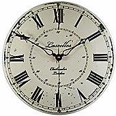 Roger Lascelles Clocks Large Enamel Wall Clockmaker Dial Wall Clock