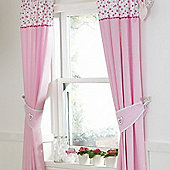bed-e-byes Purfect Pink Tape Top Curtains 136x160