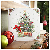 Tesco Luxury Traditional Christmas Tree Cards, 6 Pack