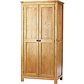 Canterbury Solid Oak and Pine 2 Door Wardrobe