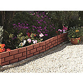 Brick Effect Plastic Garden Border, Terracotta