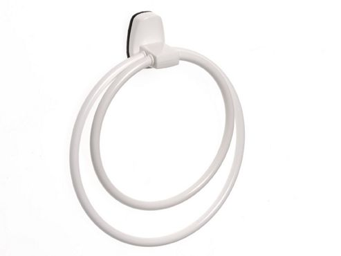 Silverthorne 10340 Towel Ring Double White