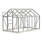 Simplicity Classic 6x10 Plain Aluminium Greenhouse With Horticultural glass