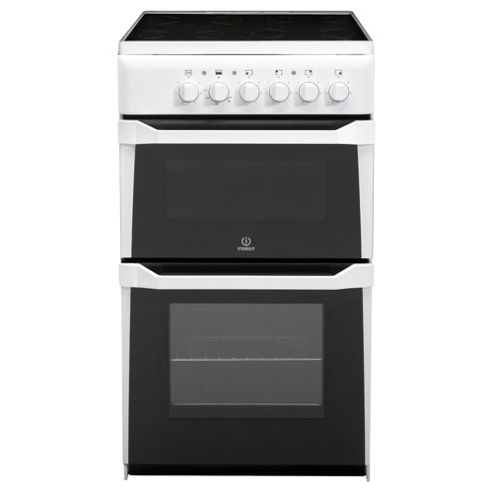 Indesit IT50C(W)S White Electric Cooker, Twin Cavity, Single Oven