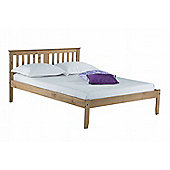Salvador 135cm 4'6 double rustic pine wooden bed frame