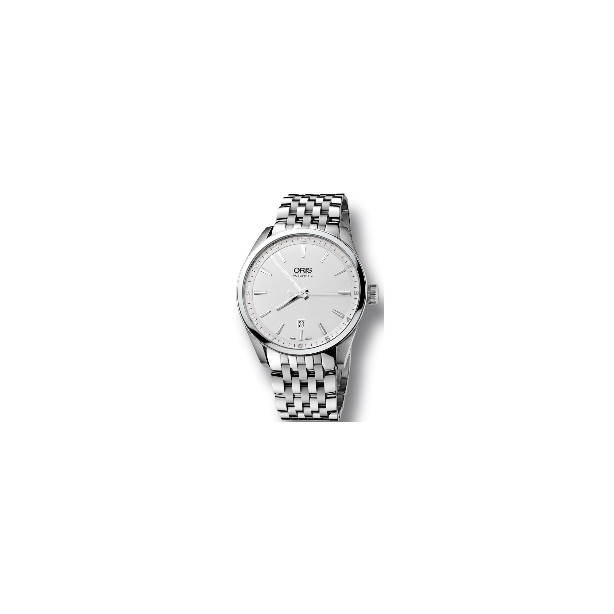 Oris Gents Artelier Silver Tone Bracelet Watch 73376424051MB at Tesco Direct
