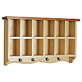 Oceans Apart French Painted Wall Coat Rack III - Buttermilk