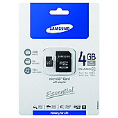 Samsung microSDHC 4GB Class 4 Card + SD Adapter