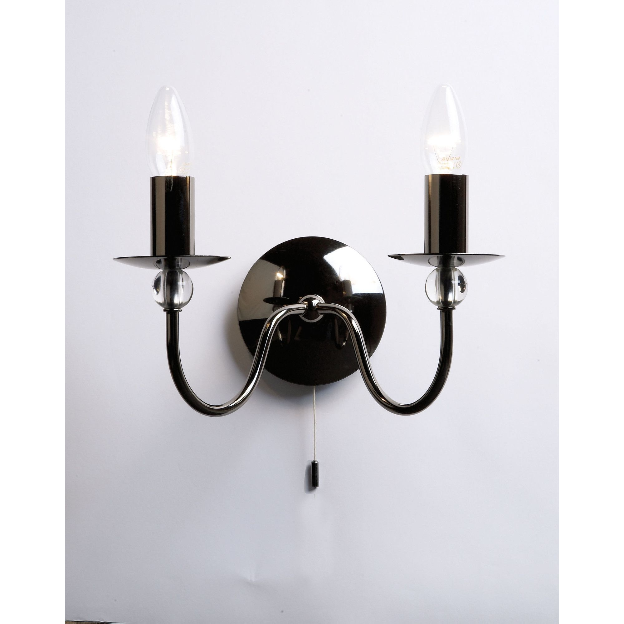 Endon Lighting Wall Light Black Chrome