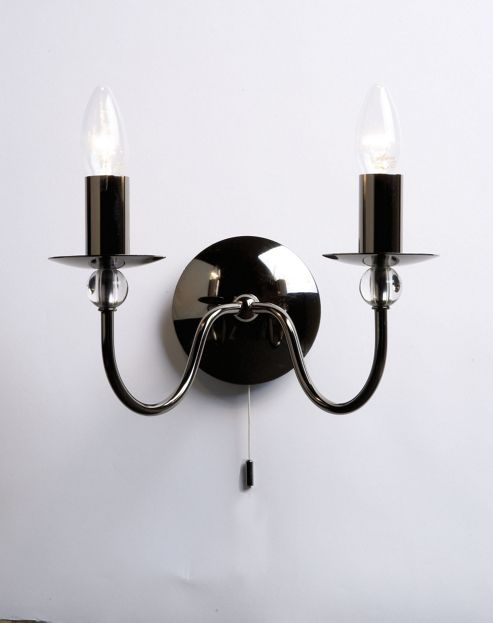 Wall Lights Tesco Direct : Buy Endon Lighting Wall Light Black Chrome from our Single Wall Lights range - Tesco