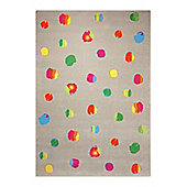 Esprit Funny Dots Taupe Woven Rug - 80 cm x 150 cm (2 ft 7 in x 4 ft 11 in)