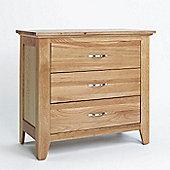 Ametis Sherwood Oak Three Drawer Chest