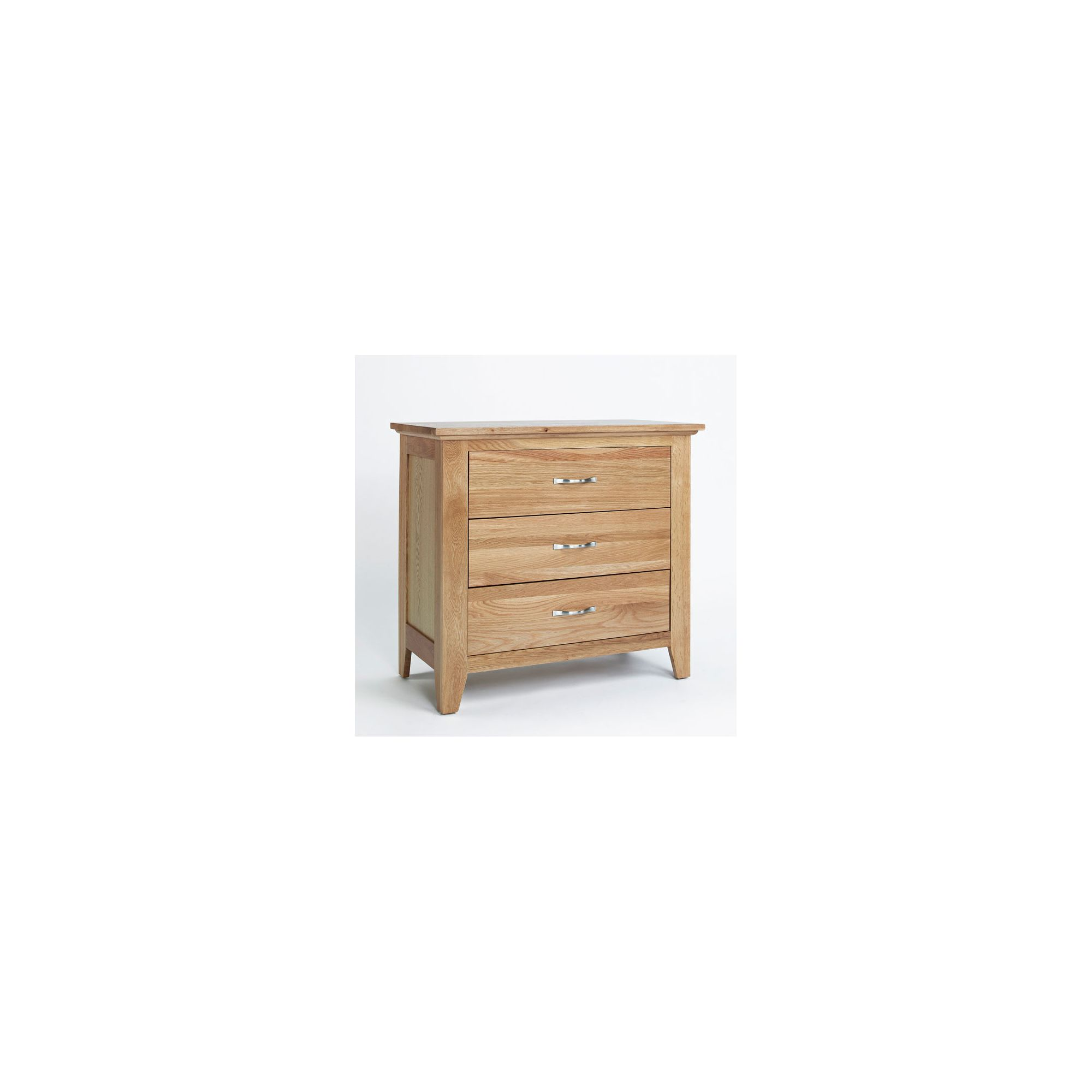 Ametis Sherwood Oak Three Drawer Chest at Tesco Direct