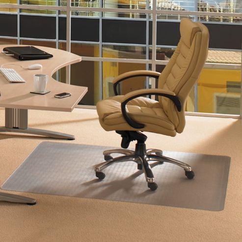 Floortex Advantagemat Cleartex Chair Mat for Use on Low Pile Carpets - 120cm x 75cm