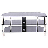 LEVV Universal Black and Chrome TV Stand For up to 60 inch TVs